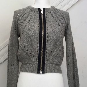 Anthropologie Full Zip CardiganSweater